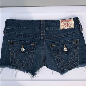 True Religion Keira Cut Off Shorts
